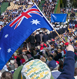Australian flag, anzac day, crowd events